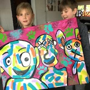 ouder-kind workshop grappig portret